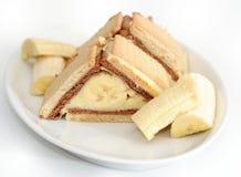 торт 2 бананов Стоковое Изображение RF