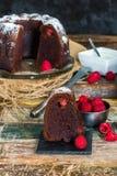 Торт bundt шоколада и поленики Стоковое Фото