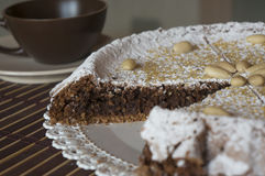 Торт Caprese стоковое изображение