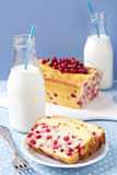 Торт Cornmeal с красной смородиной Стоковая Фотография RF