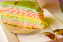 Торт Crepe Стоковое Фото