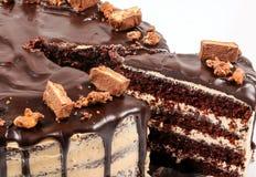 Торт Fudge шоколада, покрытая конфета Стоковое фото RF