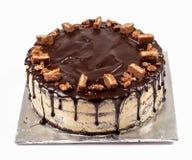 Торт Fudge шоколада, покрытая конфета Стоковая Фотография RF