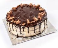 Торт Fudge шоколада, покрытая конфета Стоковое Изображение