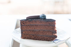 Торт Fudge шоколада Стоковые Фотографии RF