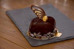 Торт Glyassazhe в цвета кофе Стоковая Фотография