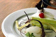 Торт Pandan десерта Стоковое Изображение RF