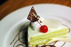 Торт Pandan десерта Стоковая Фотография