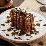 Торт Spartak шоколада Стоковая Фотография RF