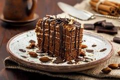 Торт Spartak шоколада Стоковая Фотография