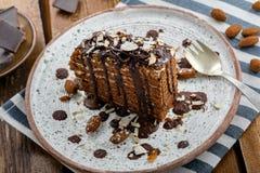 Торт Spartak шоколада Стоковые Изображения