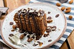 Торт Spartak шоколада Стоковые Фото