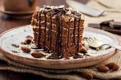 Торт Spartak шоколада Стоковое Изображение