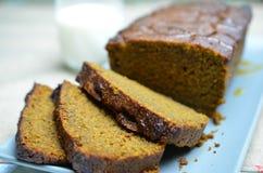 Торт spiced тыквой Стоковое Изображение