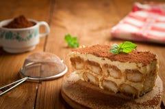 Торт Tiramisu Стоковое Изображение RF