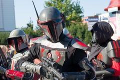 Торун, Польша - 04 10 2014: Парад covention Звездных войн cosplay стоковая фотография rf