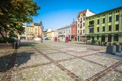 Торун, Польш-сентябрь 11,2016: Город Торуна, историческая арендуемая квартира Стоковые Изображения