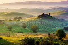 Тоскана, ландшафт Стоковое Изображение