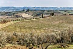 Тоскана, ландшафт Стоковые Фото