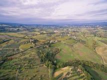 Тоскана, Италия, вид с воздуха стоковое изображение rf