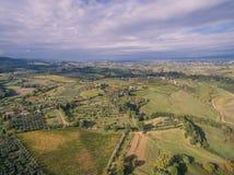 Тоскана, Италия, вид с воздуха стоковая фотография rf