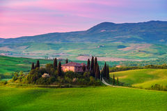 Тоскана, итальянский ландшафт стоковое фото rf