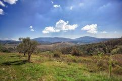 Тоскана, итальянский сельский ландшафт стоковые изображения