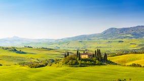 Тоскана на весне Стоковое Фото