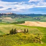 Тоскана на весне Стоковое фото RF
