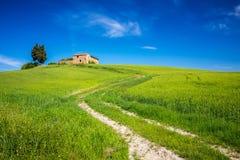 Тоскана на весне Стоковые Фото
