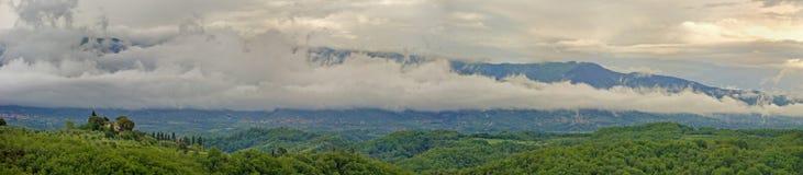 Тоскана панорамная Стоковая Фотография
