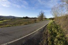 Тосканская дорога Стоковые Фотографии RF