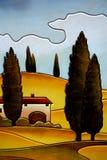 Тосканская страна стоковые изображения