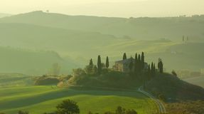 Тосканский ландшафт Стоковые Изображения RF