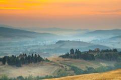Тосканский пейзаж сельской местности Стоковые Фотографии RF