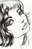 тоскливость девушки стороны Стоковые Изображения RF
