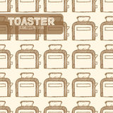 тостер сбор винограда типа лилии иллюстрации красный Стоковая Фотография RF