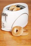 тостер bagels стоковые изображения rf