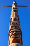 Тотемный столб в парке Стэнли, Ванкувере Стоковое Изображение