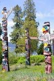 Тотемный столб в парке Стэнли Стоковое фото RF