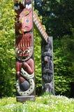 Тотемный столб в парке Стэнли Стоковое Изображение RF