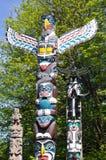 Тотемный столб в парке Стэнли Стоковая Фотография RF