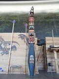 Тотем коренного американца принятый на канадский музей истории Стоковая Фотография RF