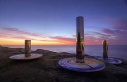 Тотем побережья на скульптуре морем Стоковое Фото