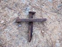 Тот старый изрезанный крест Стоковое фото RF
