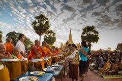 Тот фестиваль luang, Вьентьян, Лаос Стоковое фото RF