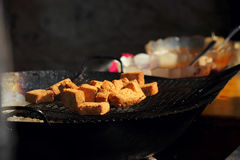 Тофу еды Китая вонючее Стоковое Фото