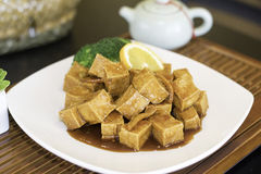 Тофу приправленное апельсином Стоковые Изображения
