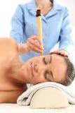 Точечный массаж, нетрадиционная медицина, естественная медицина Стоковое Изображение