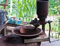 Точильщик стана кофе сбора винограда Стоковые Фото